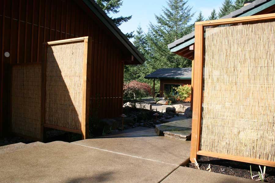 entry into zen style garden